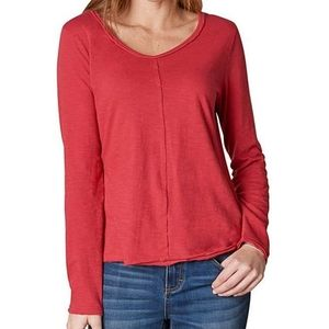 Prana Romina Long Sleeve V-Neck Tee. Size Small